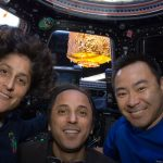 Sunita Williams, Joe Acaba and Aki Hoshide aboard the ISS