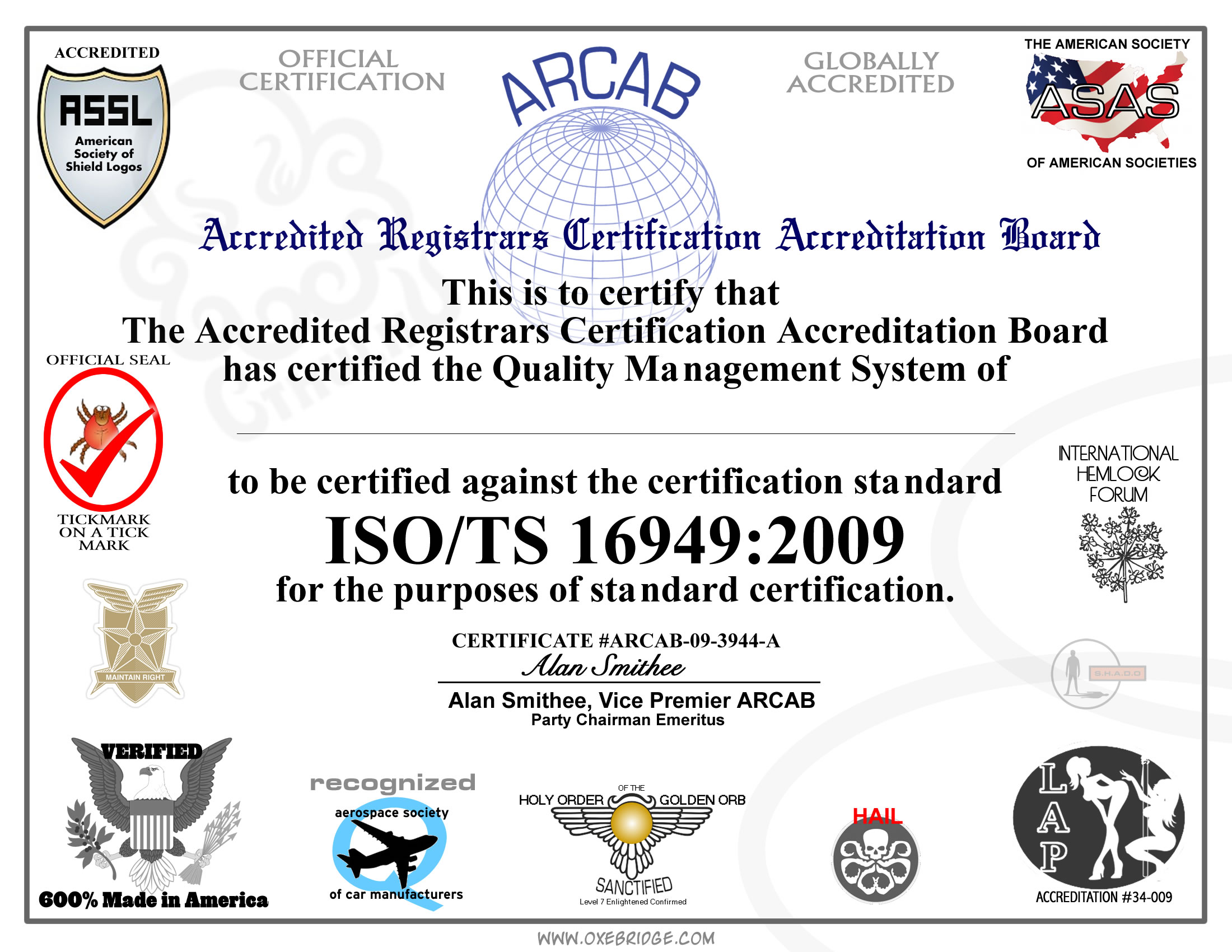 ISO TS 16949 Cert - Free!