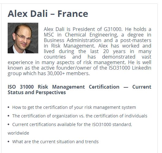 alex dali on certification of 31000