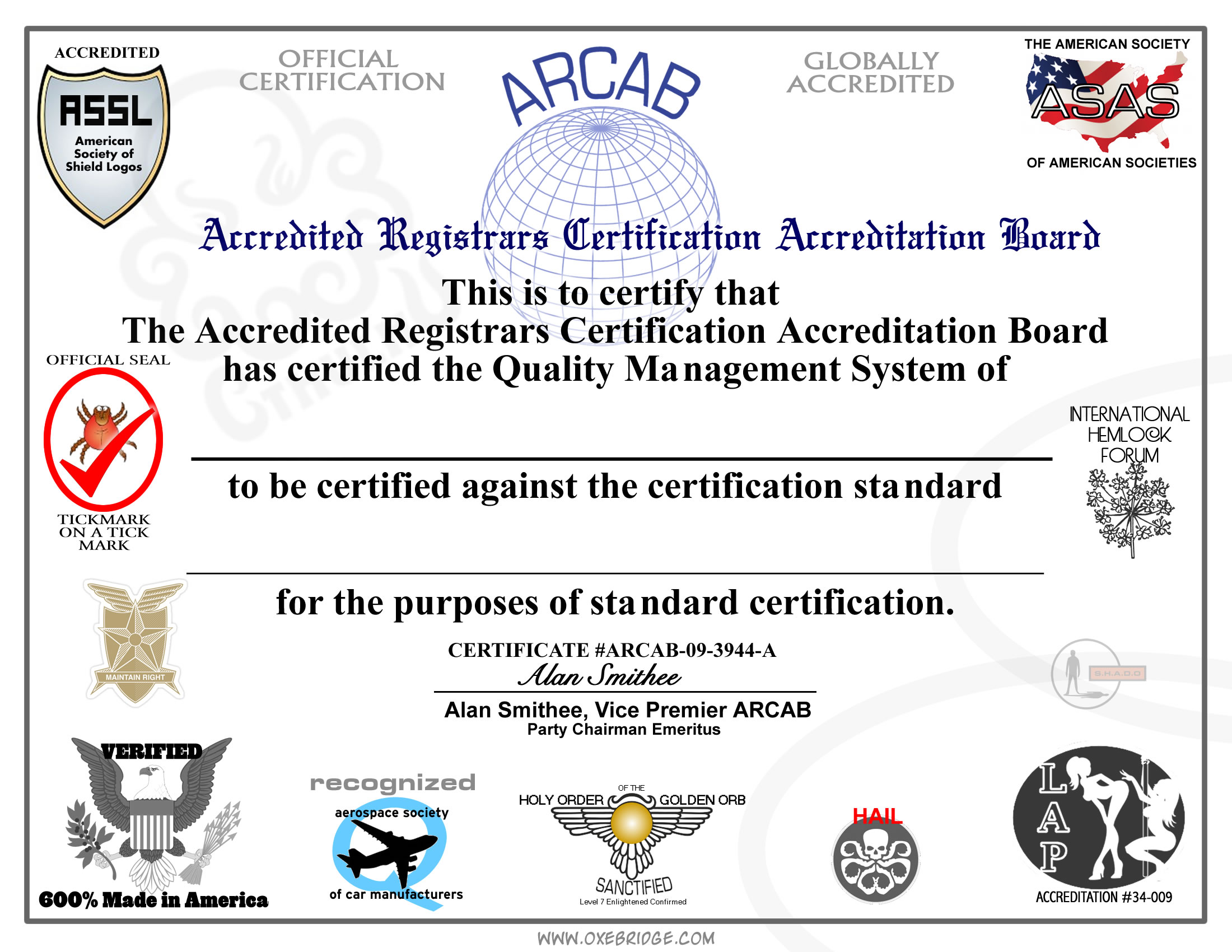 Free Certification For Anyone For Anything Because Why Not