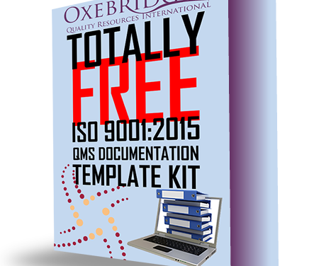 Oxebridge's ISO 9001 Template Kit Updated to ver. 1.12