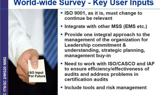 ISO Presentations on Risk-Based Thinking Reveal US Influence, Rejection of User Feedback