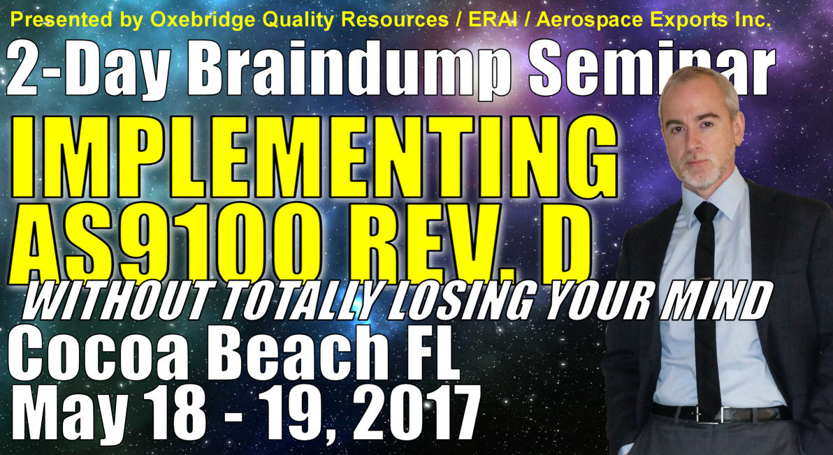 Implementing AS9100 Rev. D: Two Day Course