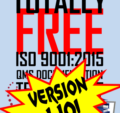 Oxebridge ISO 9001 Template Kit Version 1.10 Released!