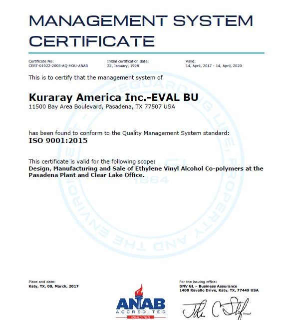 Texas Plant Where Explosion Injured 22 People Had ISO 9001, 14001 Certificates