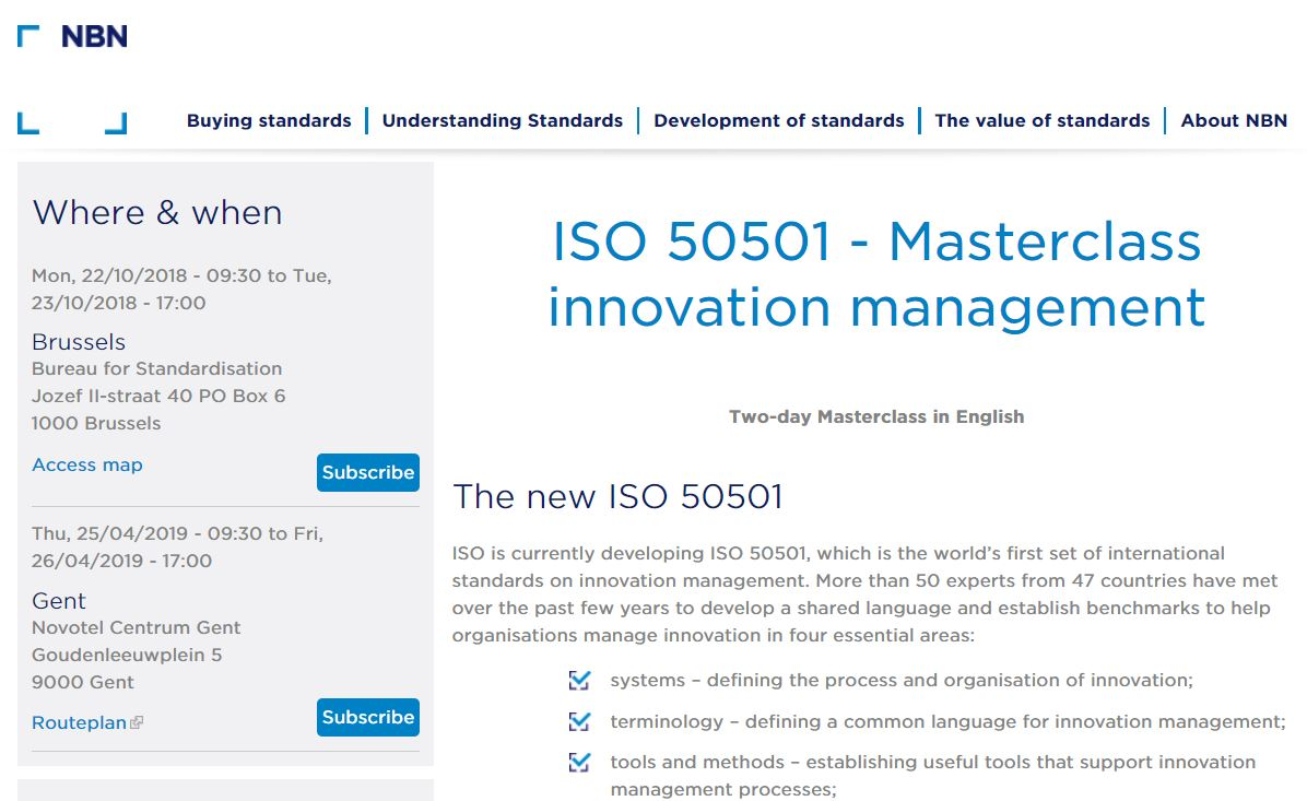 Typical: Consultants are Selling Training on new ISO 50501