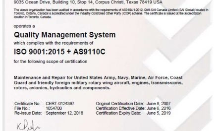 Two Arrested at AS9110 Certified Army Depot for Falsification of Helicopter Repair Records