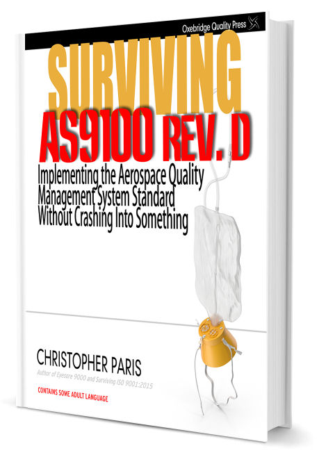 Surviving AS9100 Manuscript Finished, Now With Editors