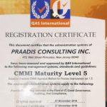 Praadis Faked QAS CMMI Level 5 Certificates