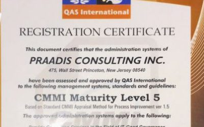 Praadis Faked QAS CMMI Level 5 Certificates