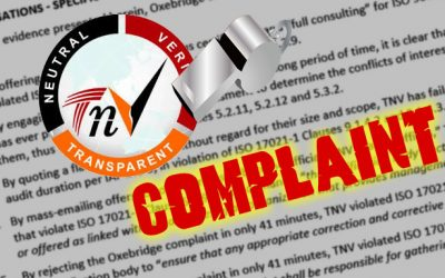 Indian Registrar TNV Rejects Official Complaint After Only 40 Minutes, Threatens Oxebridge