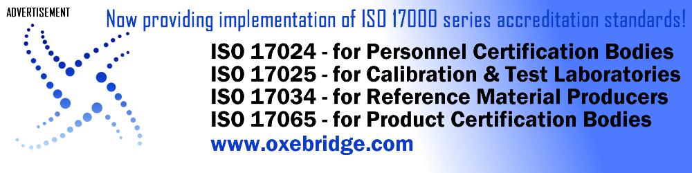 ISO 17000 Series Consulting