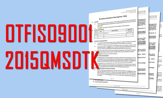 Oxebridge ISO 9001 Template Kit Updated to Version 1.14