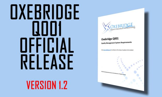Oxebridge Q001 Standard Updated to Version 1.2