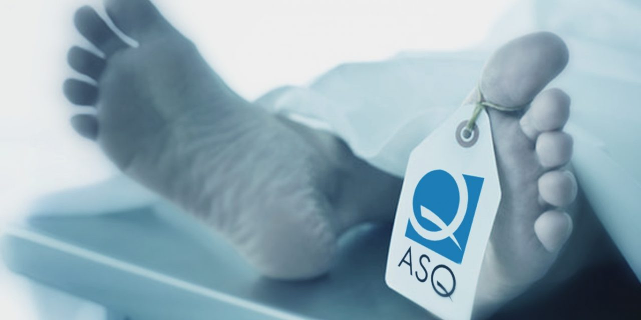 ASQ Blew Opportunity to Become a Hero During Coronavirus Outbreak