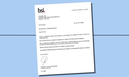 """In Anonymous Email, BSI Closes """"Nonconformity Quota"""" Complaint, Ignores Evidence"""