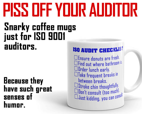 Snarky ISO 9001 Coffee Mugs