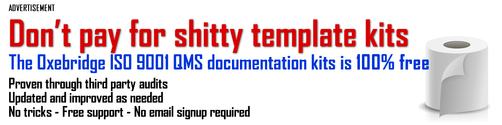 Free ISO 9001 Template Kit