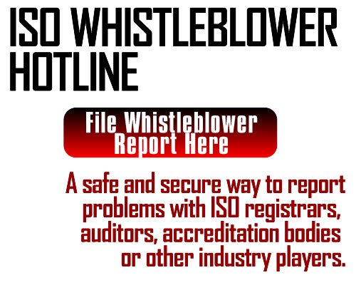 ISO Whistleblower Program