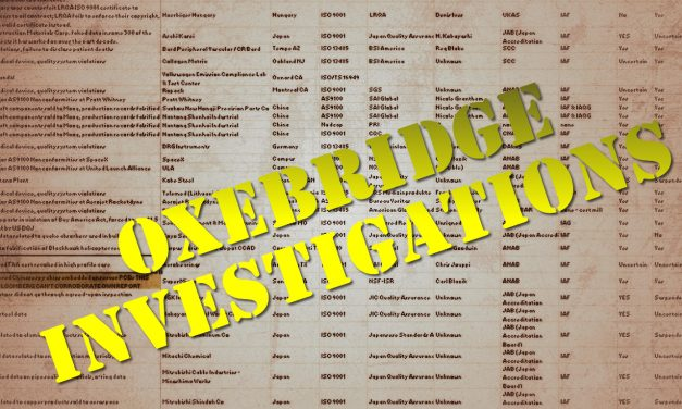 Read a Summary of Nearly 90 Oxebridge Investigations of ISO Certification, Accreditation Bodies