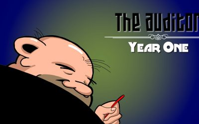 To Celebrate 1st Anniversary of Comic Strip, Oxebridge Releases THE AUDITOR: YEAR ONE Collection