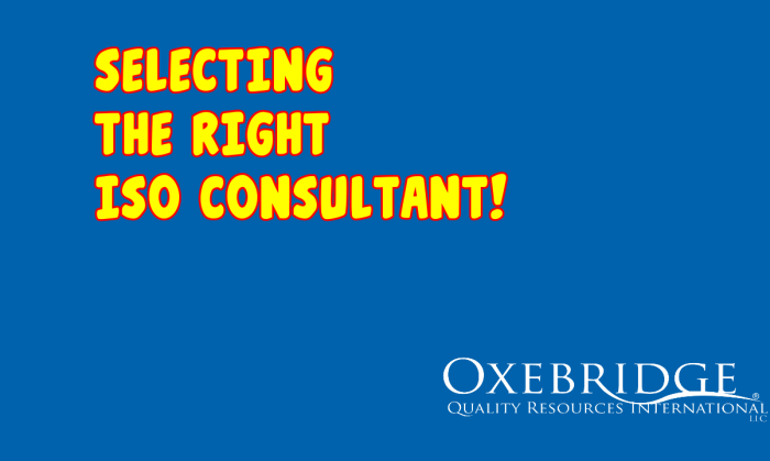 HUMOR: Selecting An ISO 9001 Consultant Who Doesn't Just Sell Books